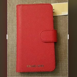 Michael Kors Red Leather IPhone X Case